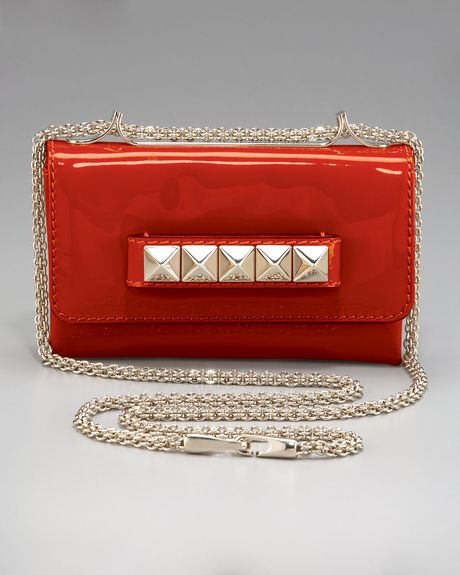 Valentino Rockstud Vavavoom Shoulder Bag Small in Red (black) - Lyst