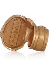 Yves Saint Laurent Arty Goldplated Glass Ring in Gold - Lyst