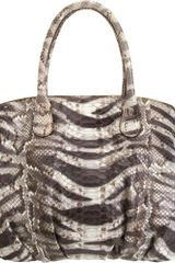 Zagliani Python Animalier Passage Handle Bag - Lyst