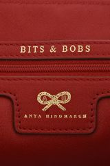 Anya Hindmarch Raw Nevis Tricolour Tote in White (red) - Lyst