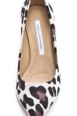 Diane Von Furstenberg Anette Snow Leopard Pumps in Animal (leopard) - Lyst