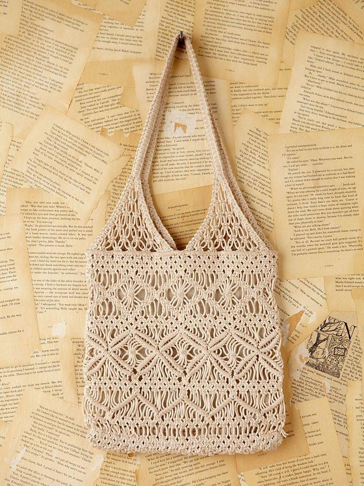 Free People Vintage Macrame Handbag In Natural Lyst