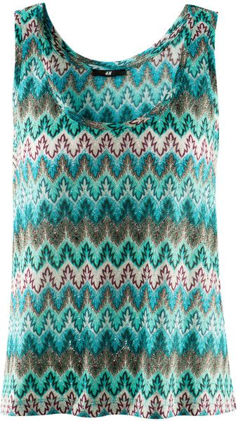 H&m Top in Blue (turquoise) - Lyst