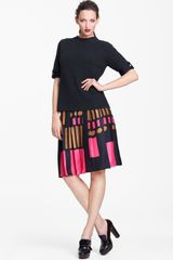 Marni Edition Contrast Cuff Ribbed Sweater - Lyst
