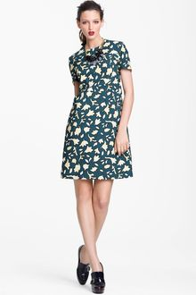 Marni Edition Leaf Print Poplin Dress - Lyst