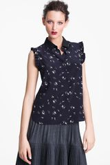 Marni Edition People Print Crepe Blouse - Lyst