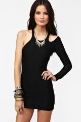 Nasty Gal Sliced Mesh Dress Black - Lyst