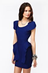Nasty Gal Victoria Peplum Dress Cobalt in Blue (cobalt) - Lyst