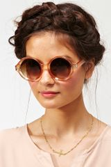 Nasty Gal Full Circle Shades Peach - Lyst