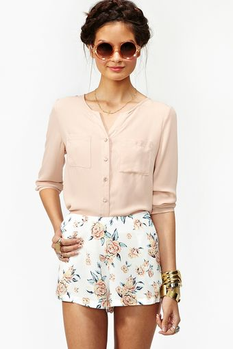 Nasty Gal Summer Rose Shorts - Lyst