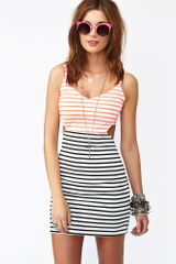 Nasty Gal Seeing Stripes Cutout Dress - Lyst