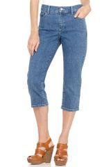 Not Your Daughter's Jeans Ariel Straight Leg Cropped Capri Jeans Light Wash - Lyst