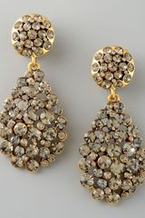 Oscar de la Renta Crystal Teardrop Earrings  - Lyst