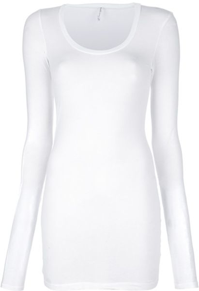 Splendid Long Sleeve Tshirt in White - Lyst