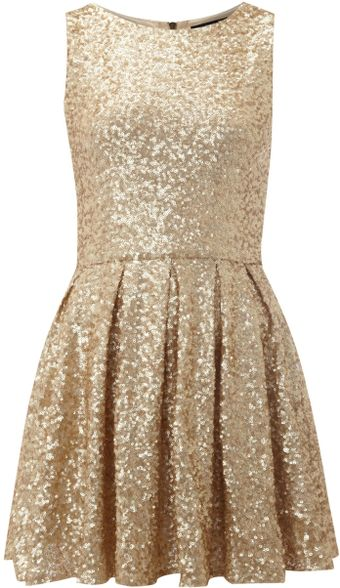 Tfnc All Over Fit and Flare Sequin Dress - Lyst