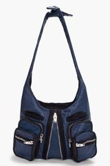 Alexander Wang Navy Donna Shoulder Bag - Lyst