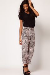 ASOS Collection Peg Trousers in Animal Print