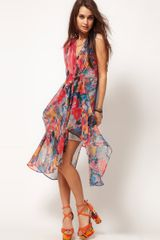 Asos Collection Asos Kaftan Dress in Spot Print in Multicolor (multi) - Lyst