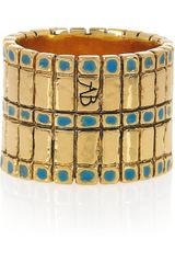 Aurelie Bidermann Mendoza Goldplated Enameled Ring in Gold - Lyst