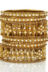 Chamak By Priya Kakkar Set Of Six Crystal Bangles - Lyst
