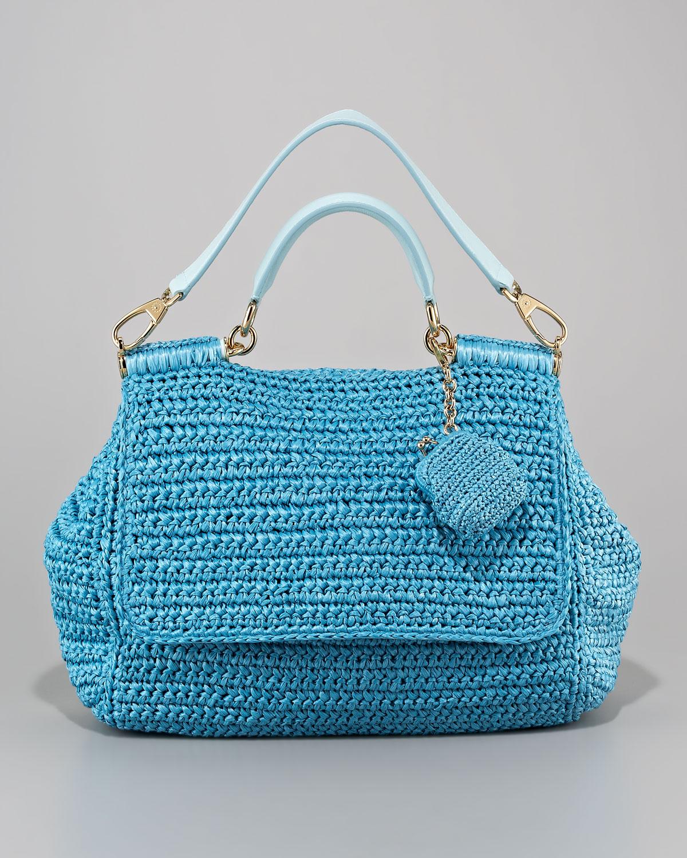 Lyst Dolce Amp Gabbana Miss Sicily Crochet Handbag In Black