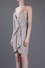 Haute Hippie Beaded Dress in Gold (nude) - Lyst