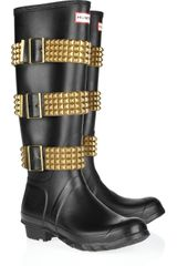 Hunter Original Tall Studstrapped Wellington Boots - Lyst