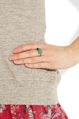 Isabel Marant Arapho Brass and Turquoise Ring in Blue (turquoise) - Lyst