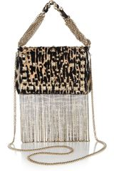 Jimmy Choo Cecile Printed Calf Hair Mini Shoulder Bag - Lyst