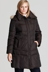 Marc New York Plus Fur Trimmed Hooded Down Coat - Lyst