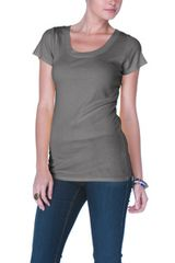 Michael Stars Supima Short Sleeve Scoop Neck Tee - Lyst