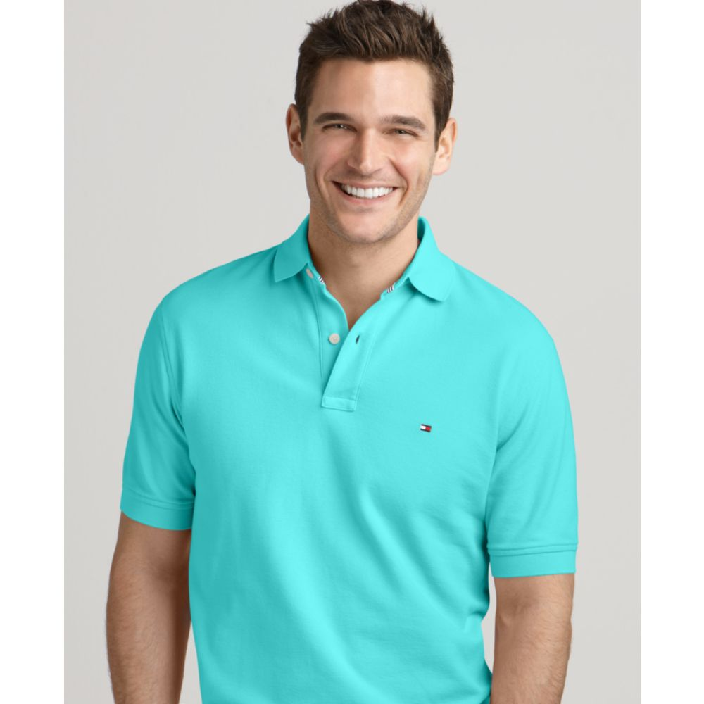 dc93eaabd Tommy Hilfiger Ivy Solid Polo Shirt in Blue for Men - Lyst