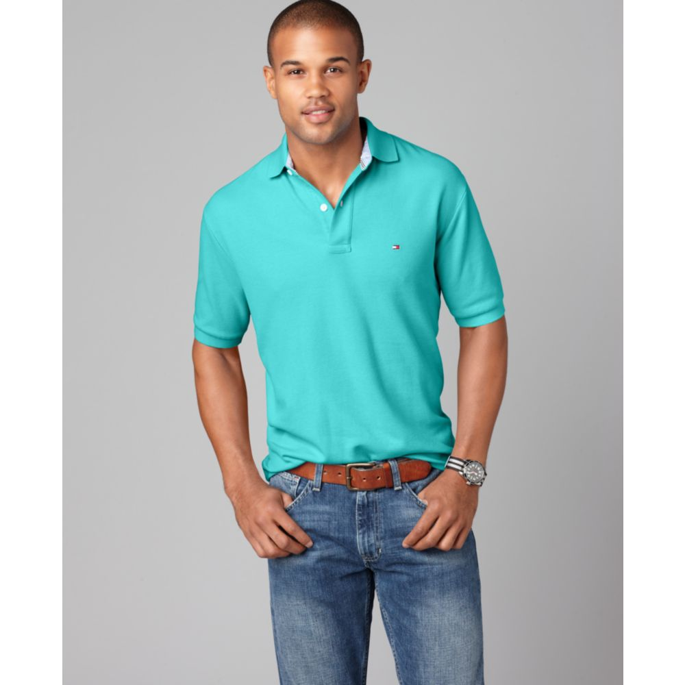 4bc56c4ac Tommy Hilfiger Slim Fit Ivy Polo Shirt in Blue for Men - Lyst