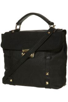 Topshop Pyramid Lock Leather Satchel - Lyst