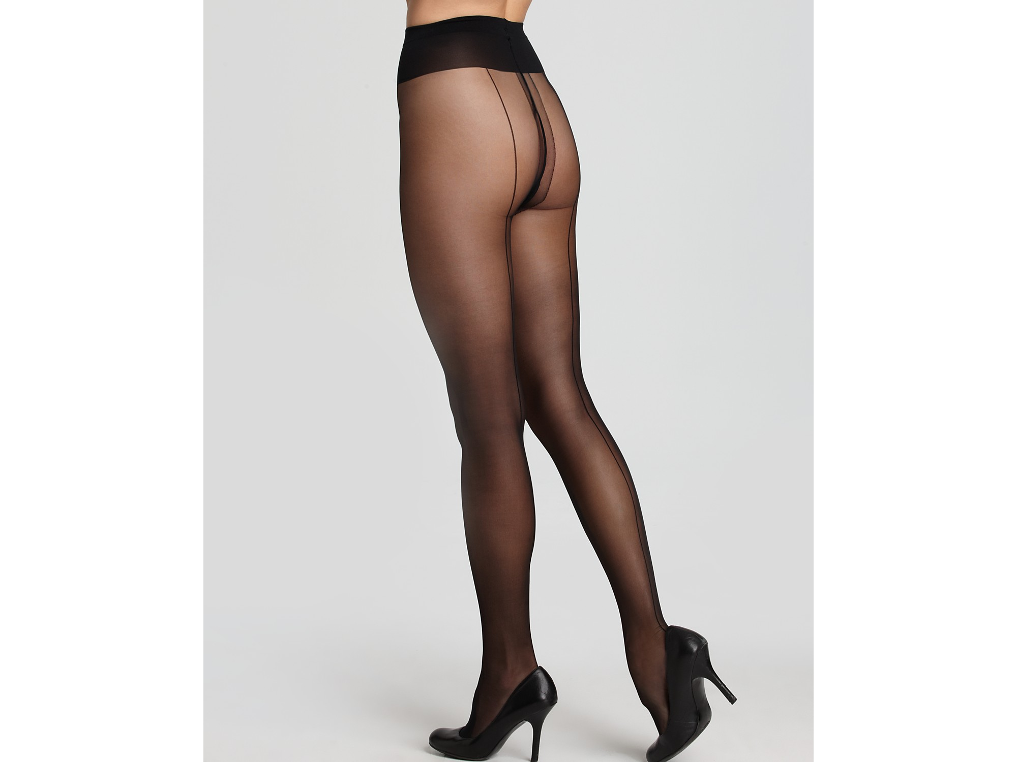 fde6815d097 Wolford Tights Individual 10 Back Seam in Black - Lyst