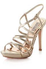 Badgley Mischka Strappy Sandal - Lyst