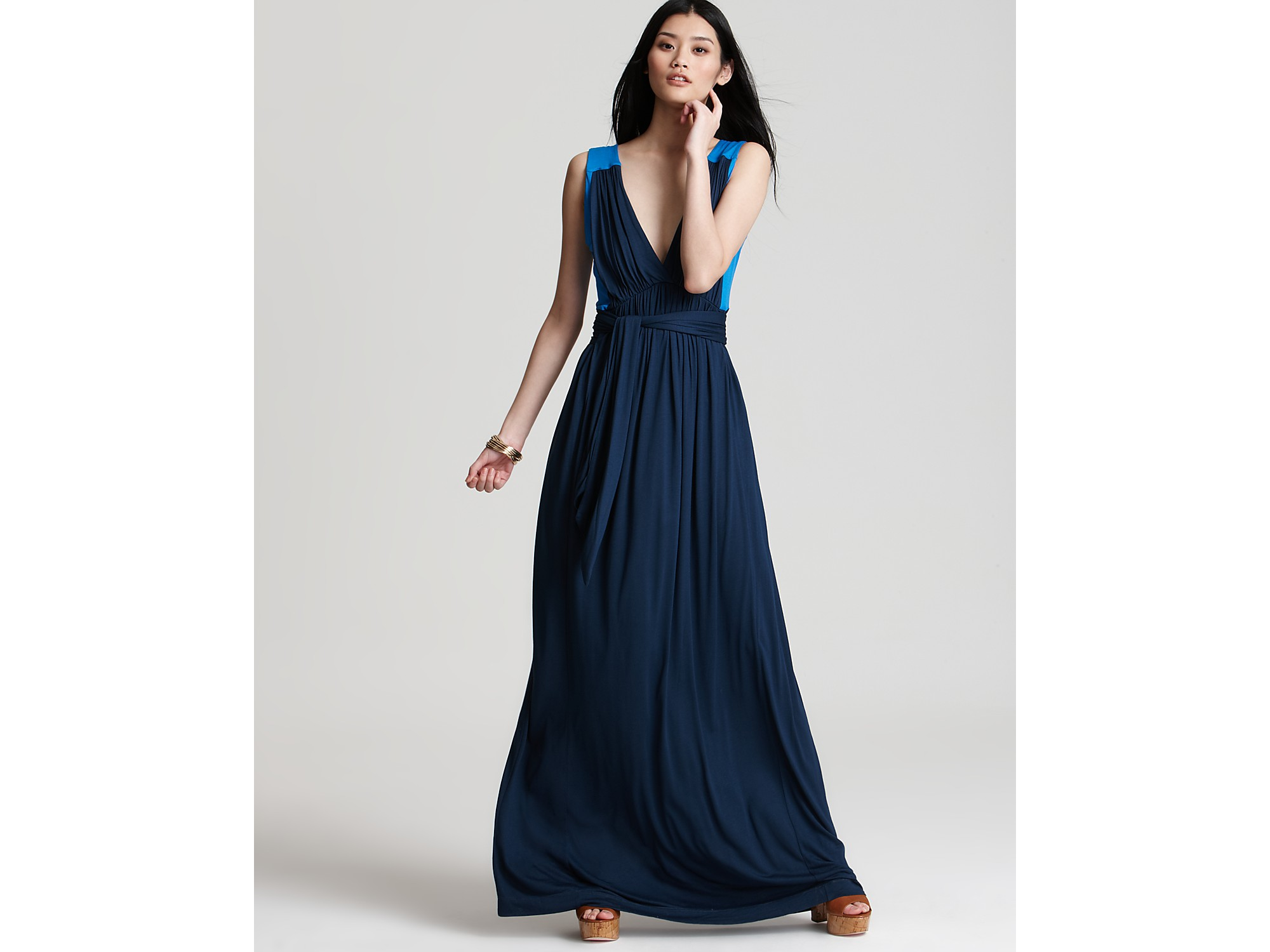 French connection meadow jersey maxi dress