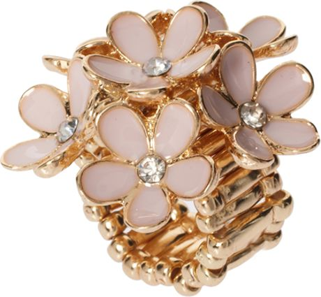 Love  Rocks Flower Ring in Gold (pink) - Lyst