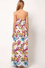 Mango Mango Floral Maxi Dress in Multicolor (white) - Lyst
