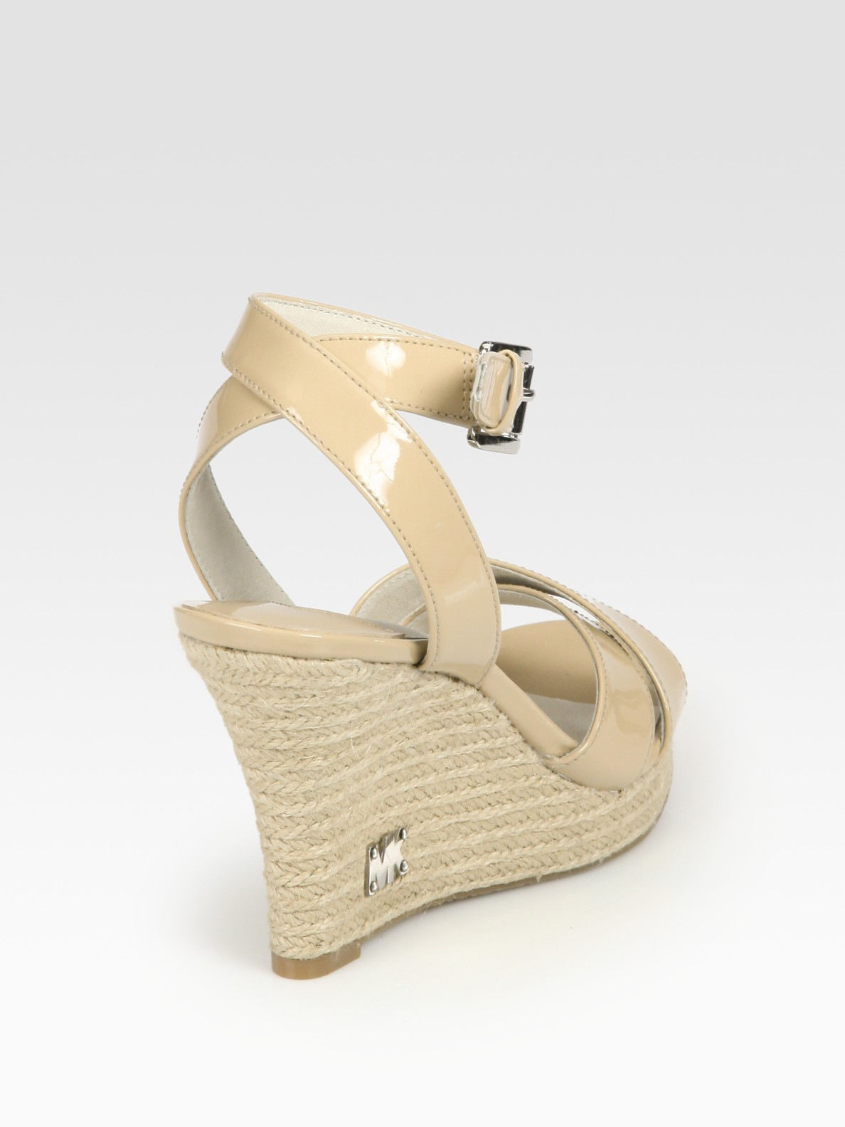 7e3e0f125c8 Lyst - MICHAEL Michael Kors Kami Patent Leather Espadrille Wedge ...