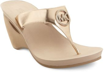 Michael Kors Warren Wedge Sandals - Lyst