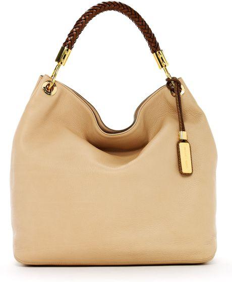 Michael Kors Skorpios Large Shoulder Bag Cinnamon Textured Leather 40