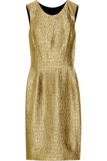 Oscar de la Renta Metallic Jacquard Shift Dress - Lyst