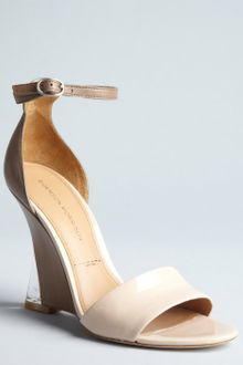 Sigerson Morrison Beige and Brown Leather Dali Wedge Sandals - Lyst