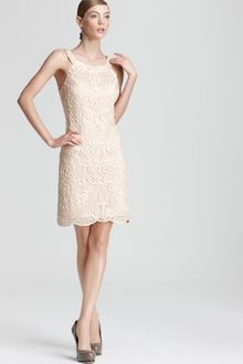 Sue Wong Lace Dress - Lyst