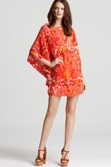 Trina Turk Silk Tunic Dress Graciella Floral - Lyst