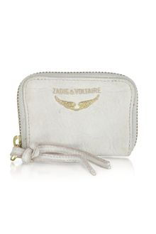 Zadig & Voltaire Mini Zv Leather Coin Purse - Lyst