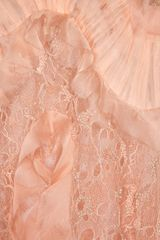Alexander Mcqueen Ruffled Bead Embellished Chiffon and Lace Gown in Pink - Lyst