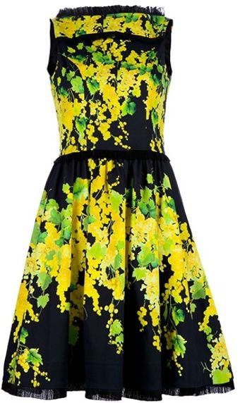 Blumarine Flower Dress - Lyst