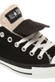 Converse All Star Ox Low Double Tongue Black White Sheepskin Exclusive - Lyst